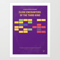 No353 My ENCOUNTERS OF THE THIRD KIND minimal movie poster Art Print