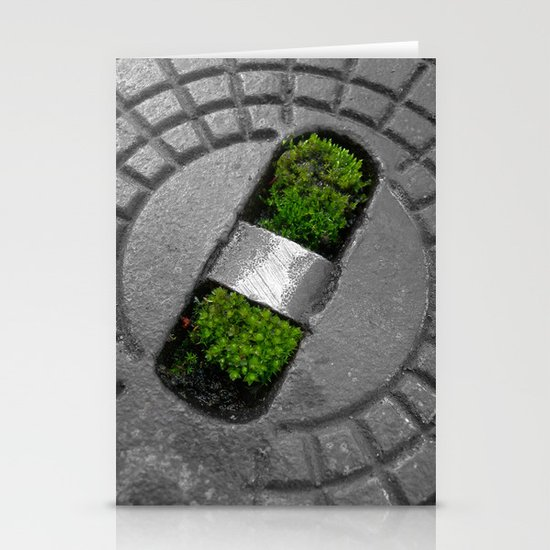 little green Stationery Card