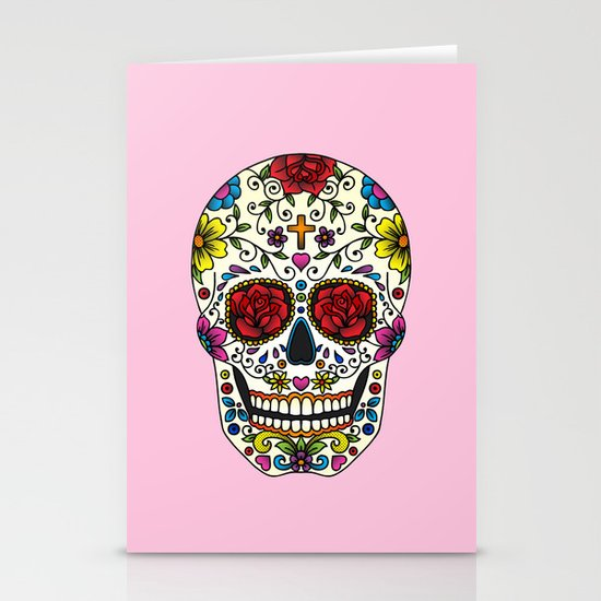 Sugar Skull Stationery Card