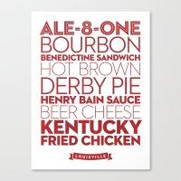 Louisville —Delicious City Prints Canvas Print