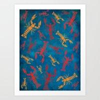 Lobsters Art Print