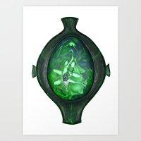 Eye Green Art Print