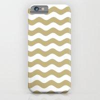 Wavy Stripes (Sand/White) iPhone 6 Slim Case