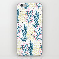 bright flowers. Illustration, pattern, flowers, floral, print,  iPhone & iPod Skin