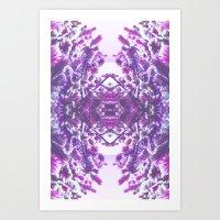 winter in purple Art Print