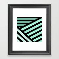 STRIPED {MINT} Framed Art Print