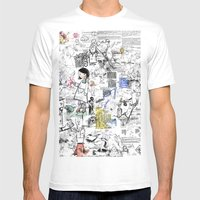 Sketches Mens Fitted Tee White SMALL