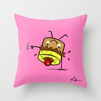 Pineapple Upside Down Ca… Throw Pillow