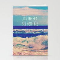 Let The Sea Set You Free Stationery Cards