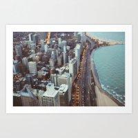 City Nights #3 Art Print