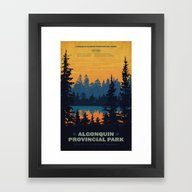 Framed Art Print featuring Algonquin Park Poster by Cameron Stevens