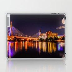 Moon light over Zakim bridge Laptop & iPad Skin