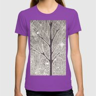 Winter Sparkly Night In … Womens Fitted Tee Ultraviolet SMALL
