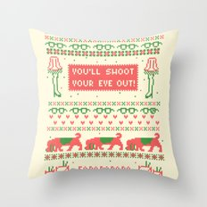 A Christmas Sweater Throw Pillow