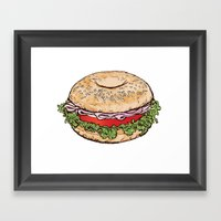 Bagel Sandwich Framed Art Print