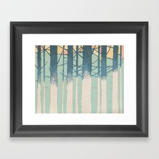 Fibonacci Trees Framed Art Print