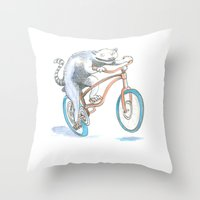 Lemur Screamer  Throw Pillow