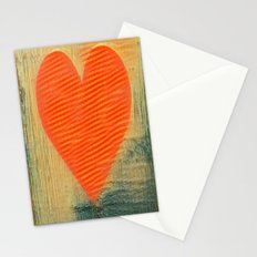 heart strips Stationery Cards