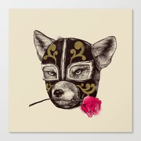 The Mask of Zorro Luchador Canvas Print