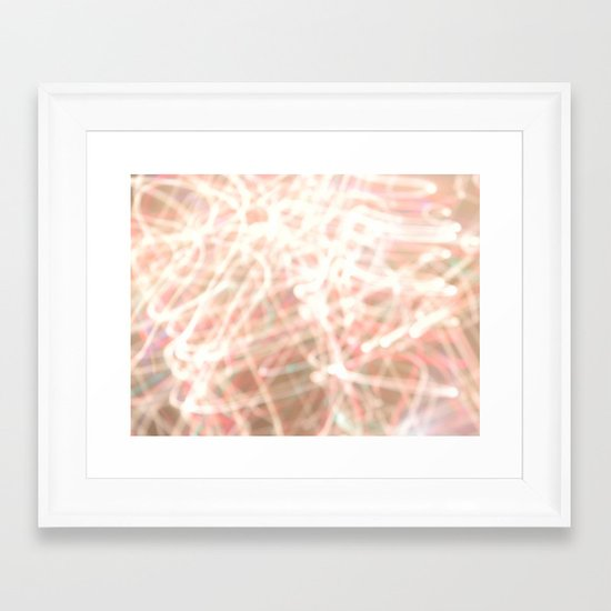 So many lights. Framed Art Print