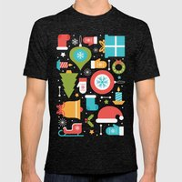 Christmas Time Mens Fitted Tee Tri-Black SMALL