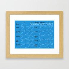 Easing Cheat Sheet Framed Art Print