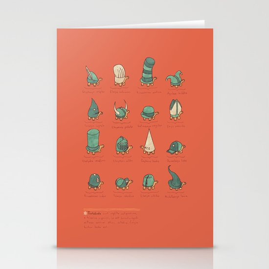A Study of Turtles Stationery Card