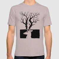 Deer, Death & Renewal Mens Fitted Tee Cinder SMALL