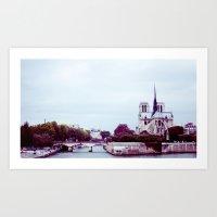 NOTRE DAME DE PARIS SUR … Art Print