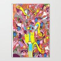 Mind mash up Canvas Print