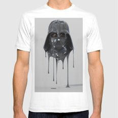 Darth Vader Melting Mens Fitted Tee White SMALL