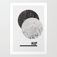 Calculating a Jump over the Moon Art Print