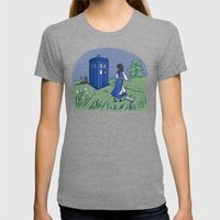 Adventure in the Great Wide Somewhere Womens Fitted Tee Tri-Grey SMALL