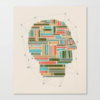 Canvas Print featuring Socially Networked. by Matt Leyen