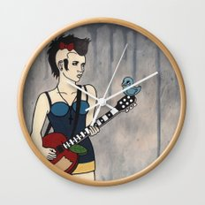 Punk White Wall Clock