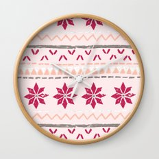 Girly Fairisle Wall Clock