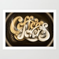Coffee Lovers Art Print