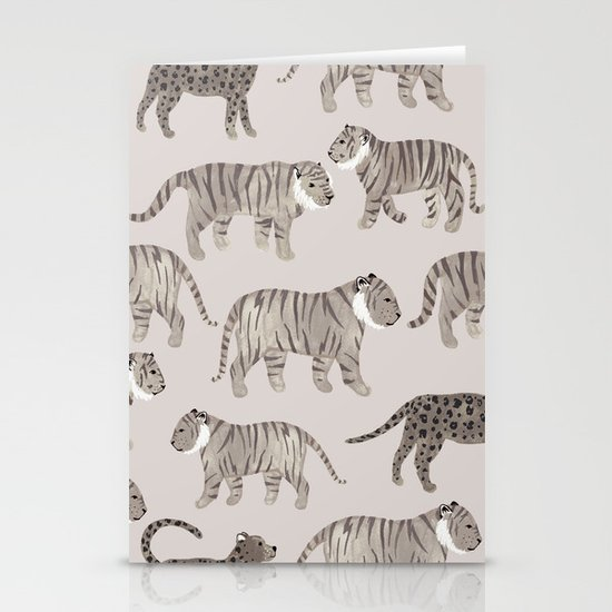 Gray Tigers Stationery Card