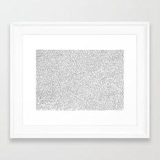 1000 imaginary friends and one bear Framed Art Print