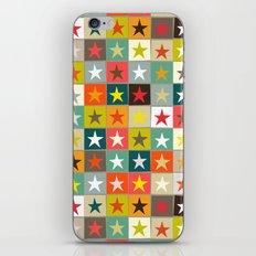 retro boxed stars iPhone & iPod Skin