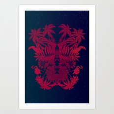 Tropical Rorschach Art Print
