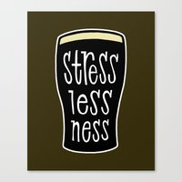 a pint of stout: stresslessness Canvas Print