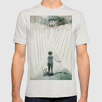 so lonely and so lost... Mens Fitted Tee Silver SMALL