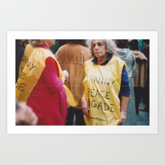 Granny Peace Brigade Art Print