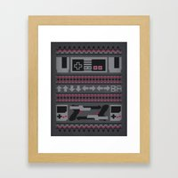 Old School Sweater Framed Art Print