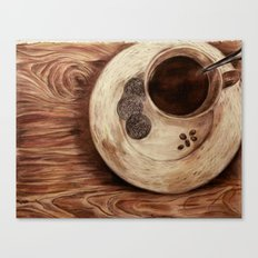 coffee on a cold day Canvas Print