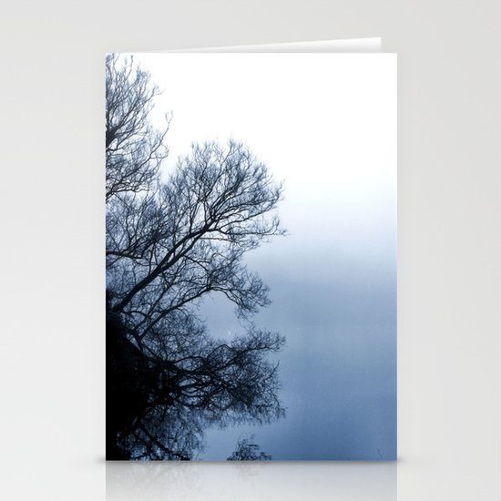 Swans in the Mist Stationery Card