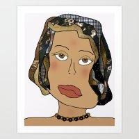 Digital Paper Doll 02 Art Print