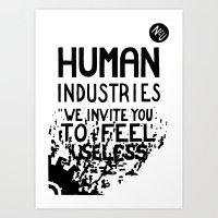 WHITEOUT: Human Industri… Art Print