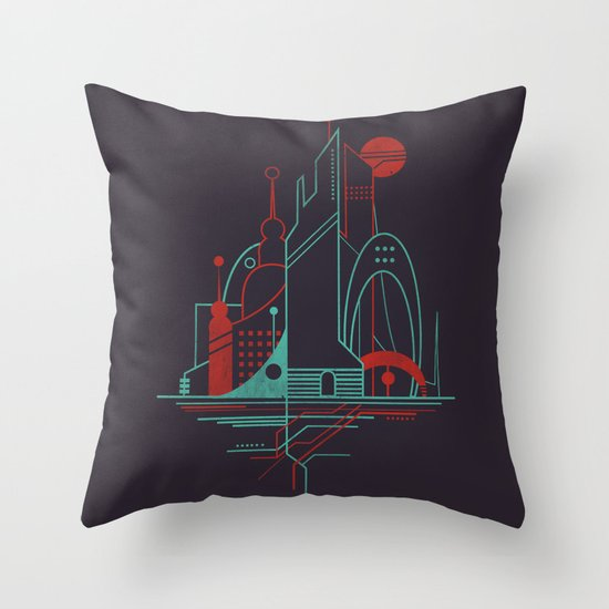From the Subway to the Sky (at Night) Throw Pillow